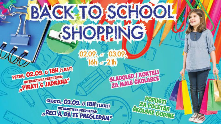 CITY CLOSSEUM BACK TO SCHOOL SHOPPING  02. I 03.09. UZ POPUSTE I ZABAVU