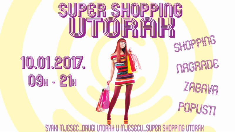 SUPER SHOPPING UTORAK 10.01. U CITY COLOSSEUMU