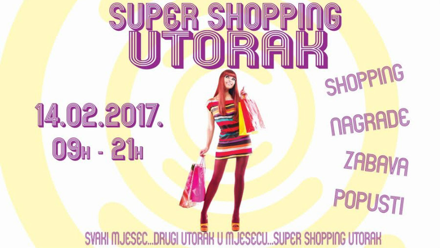SUPER SHOPPING UTORAK 14.02. U CITY COLOSSEUMU