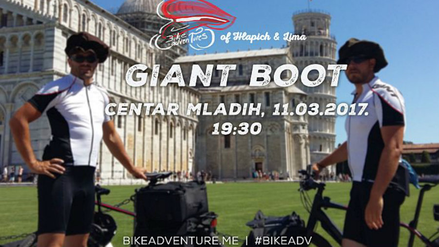 "Uskoro premijera filma  ""Bike Adventures of Hlapich and Lima - Giant Boot"""