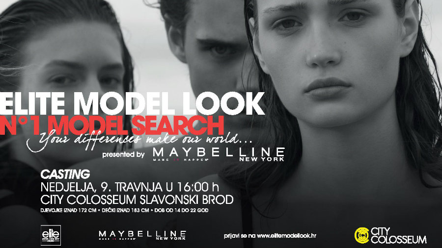 "Natjecanje ""Elite Model Look 2017. by Maybelline"" u City Colosseumu"
